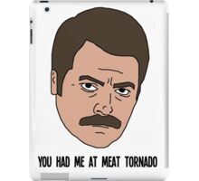 Ron Swanson - Meat Tornado iPad Case/Skin