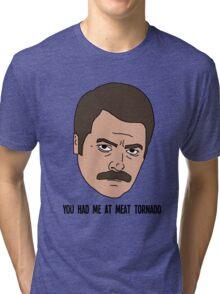 Ron Swanson - Meat Tornado Tri-blend T-Shirt