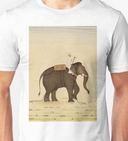 Mahout Riding an Elephant Painting (18th Century) Unisex T-Shirt