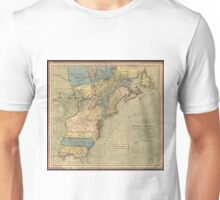 Vintage Discovery Map of The Americas (1771) Unisex T-Shirt