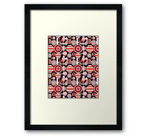 Seamless geometric pattern Framed Print
