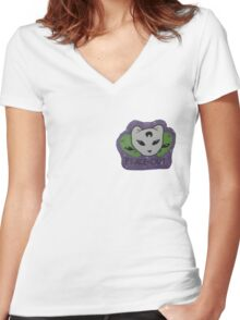 Usabjørn Peace Out Women's Fitted V-Neck T-Shirt
