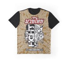 tiger muay thai fighter rush fight thailand martial art shirt logo Graphic T-Shirt