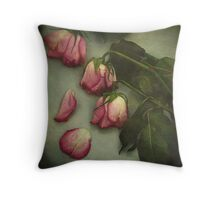 Tears of a Rose  Throw Pillow