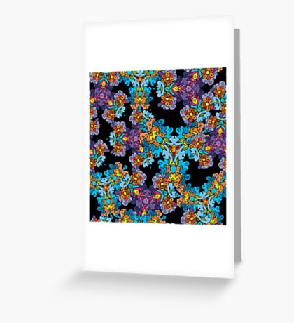 Psychedelic LSD Trip Ornament 0007 Greeting Card