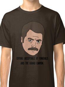 Ron Swanson - Crying Classic T-Shirt