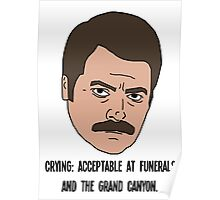 Ron Swanson - Crying Poster