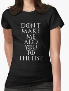 The List Womens Fitted T-Shirt