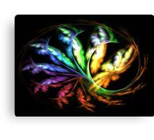 Rainbow Papillon Canvas Print