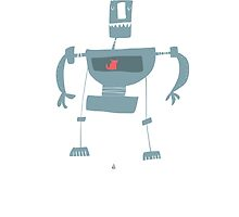 Robot & Cat by Abi Tompkins