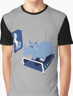 RUNNIN' RHINO Graphic T-Shirt