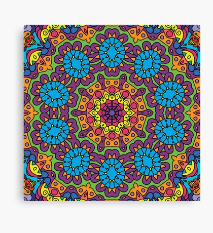 Psychedelic LSD Trip Ornament 0008 Canvas Print