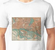 Vintage Map of Hamburg Germany (1910) 2 Unisex T-Shirt