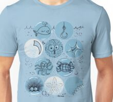 Cute Sea Animals Floating in Bubbles Unisex T-Shirt