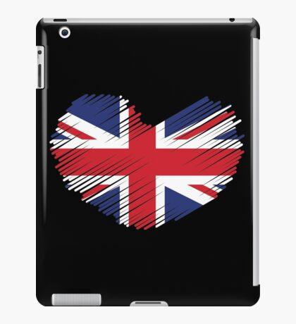 Great Britain Flag Heart iPad Case/Skin
