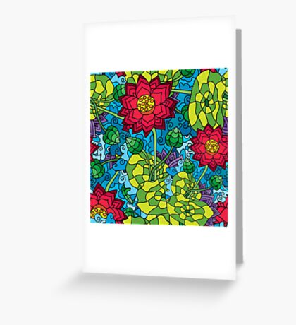 Psychedelic LSD Trip Ornament 0009 Greeting Card