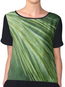 Walk Among Long Dappled Grass Chiffon Top