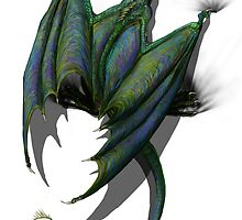 Wyvern Clinging v1 - large by Jamaal-Raoof