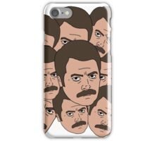Too Many Ron Swansons iPhone Case/Skin