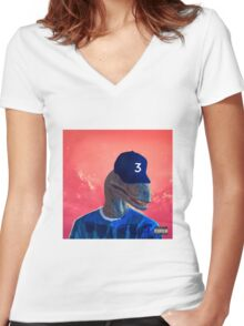 Chance the Raptor Women's Fitted V-Neck T-Shirt
