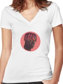 Lil Yachty Women's Fitted V-Neck T-Shirt