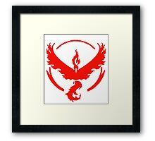 POKEMON team Valor Framed Print