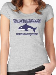 Who was the genius that called them killer whale instead of sea pandas? Women's Fitted Scoop T-Shirt