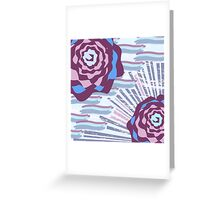 Retro Roses Greeting Card