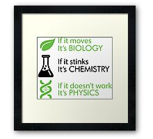 Biology - Chemistry - Physics Framed Print