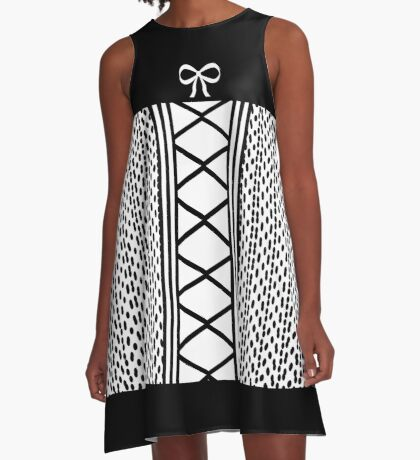 Dots and Bows A-Line Dress