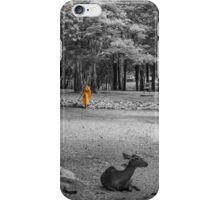 Monk doing daily cleaning routine  iPhone Case/Skin
