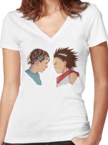 Showdown Women's Fitted V-Neck T-Shirt