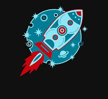 Retro rocket, planet, space, galaxy, science fiction, stars Unisex T-Shirt