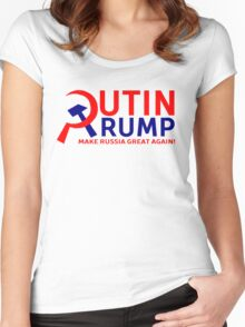 Putin Trump Make Russia Great Again Women's Fitted Scoop T-Shirt