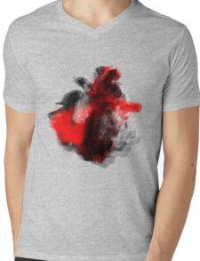 RED HEART Mens V-Neck T-Shirt