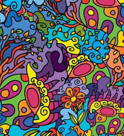 Psychedelic LSD Trip Ornament 0001 Sticker