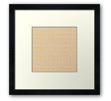 Mickey Polka Dots in Mulan Orange Framed Print