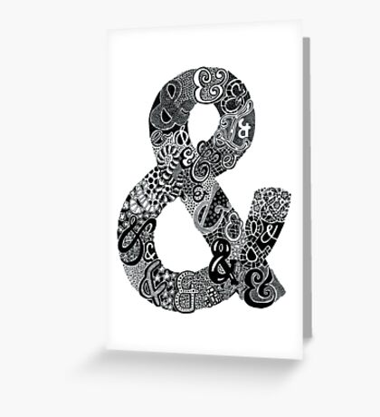 Ampersand Illustration Greeting Card