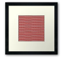 Mickey Polka Dots in Minnie Red Framed Print