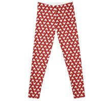 Mickey Polka Dots in Minnie Red Leggings