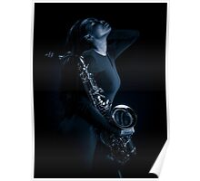 African Sax Lady Poster