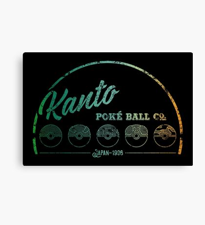 Green Kanto Poké Ball Company Canvas Print