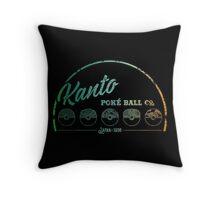 Green Kanto Poké Ball Company Throw Pillow