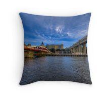 Between the Bridges Throw Pillow