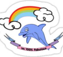 100% Fabulous Sticker