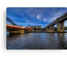Between the Bridges Canvas Print