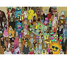 Rick and Morty - Where's Rick  Photographic Print