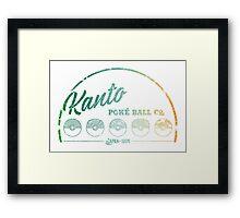 Kanto Poké Ball Company on White Framed Print