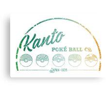 Kanto Poké Ball Company on White Canvas Print