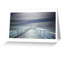 A long walk down the pier! Greeting Card